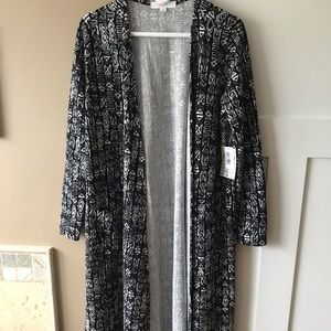 LuLaRoe Sarah Large Black and White Aztec